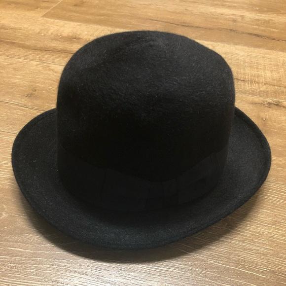d8959f5cc Barbisio Black Vintage Italian Bowler Hat sz 6 3/4